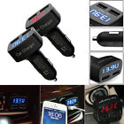 Car Charger Ammeter/Voltmeter Tester 4 in 1 LCD Display Dual USB Port For iPhone