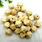30pcs Wood Spacer Bead Natural Unpainted Wooden Ball Beads Diy Craft Jewelry