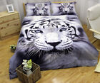 Tiger Duvet Doona Quilt Cover Set Queen/King/Double Size Animal Bed Covers NeW