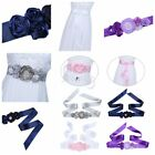 Handmade Women's Elegant Pearls Flower Bridal Floral Sash Ribbon Wedding Belt