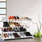 4/7 Tier Shoe Rack Tower Shelf Heavy Duty Storage Holder Organizer Cabinet Grey