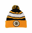 Mitchell & Ness NHL Beanie Boston Bruins Black/Gold Quilted Crown Pom Knit Hat