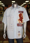 Men's Lt.Blue Makaveli Short Sleeve Button Down Shirt