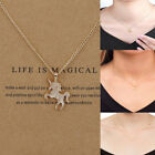 Women Unicorn Necklace Pendant Gold Clavicle Chains Choker Jewelry Gift