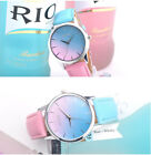 Colorful Simple Cute Ladies Girl Watch Soft Leather Strap Student Dress Watch
