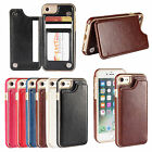 Premium hybrid TPU & Leather Case Cover Hasp card holder for iphone 5 SE 6 7 7P