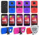 For Motorola Moto E4 / Moto E(4th Gn) Heavy Duty Armor Case Cover + Glass Screen