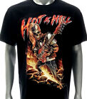 d30 Rock Chang 3D T-shirt Tattoo STUD RIVET Skull Ghost Hot as Hell Guitar Fire