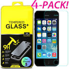 4X Premium Real Screen Protector Tempered Glass Film For iPhone 6 6s 7 Plus