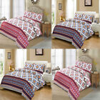 GEOMATRIC DUVET COVER WITH PILLOW CASE BEDDING SET SINGLE, DOUBLE, KING