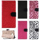 For Samsung Galaxy J3 Luna Pro ROSE Leather Wallet Case Pouch Flip Phone Cover