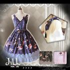 Lolita japan anime oriental goldfish moon river spaghetti sundress【JI0040】