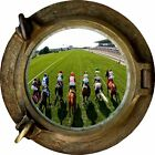 Huge 3D Porthole Horse Racing View Wall Stickers Mural Film Art Decal Wallpaper