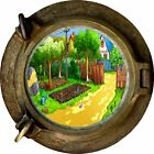 Huge 3D Porthole Childs Garden View Wall Stickers Film Mural Art Decal Wallpaper
