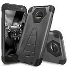 For Motorola Moto Z2 Force/Z2 Play Dual Layer Hybrid Armor Shockproof Stand Case