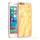 Marble Yellow Clear Sides Hard Case Cover For Various Mobile Phones