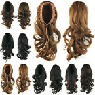 Women Drawstring Wave Curly Bun Pony Tail Short Ponytail Clip In Hair Extensions