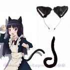 Neko Cosplay Costume Cat Tail + Cat Ear Set Anime Fancy Cute Sexy Cosplay Black