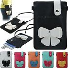Pu Leather Flap Bag Magnetic Pouch Case Holster For Galaxy & Apple mobile phone