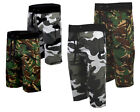 Mens Camouflage Camo Gym Fleece Jogger Shorts Or 3/4 Elasticated Waist S-XXL