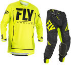Fly Racing 2018 Lite Hydrogen Motocross Jersey & Pants Hi-Vis Black Kit Off Road