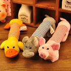 Dog Chew Squeaker Squeaky Plush Sound Duck Pig Elephant Sound Pet Toys Supplies