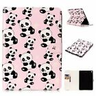 New Oil Painting 3D Relief Cute Panda Stand Leather Cover Skin case for tablet