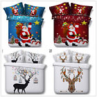 Sata Claus Quilt Doona Covers Set Double Queen King Size Duvet Covers Christmas