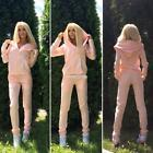 Women Long Sleeve Solid Tracksuit Hoodies Pants Set Two Piece Casual S0BZ