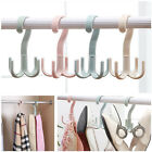 1pc 4 Claw Hook Rotating Rack Scarves Shoes Belt Organizer Bag Hanger Holder Hot