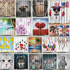 Внешний вид - Waterproof Fabric Various Pattern &12 Hooks Bathroom Shower Curtain Multichoice