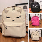 Women Canvas Cat Shoulder School Bag Backpack Travel Satchel Rucksack Handbag