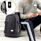 """18"""" Waterproof Laptop Backpack with USB Charging Port Anti-theft Notebook Bag"""
