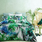 3 Pce Polyester Cotton Bahamas Leaf Tropical Quilt Cover Set - QUEEN KING