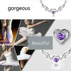 Hot Wing with Heart-shaped Charm Pendant Choker Necklaces For Women New EN24H