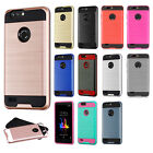 For ZTE Blade Z Max Brushed Metal HYBRID Rubber Case Phone Cover + Screen Guard