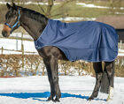 BUCAS HORSE WALKER / LUNGE WATERPROOF EXERCISE RUG - NAVY/SILVER