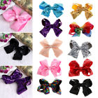 1PC 8 Inch Cute Sequins Girl Butterfly Hair Clip Bow Baby Colorful Hairpins Gift