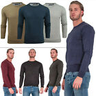 Mens Crew Neck Jumper Brave Soul Knitted Pullover Sweat Shirt Top Size S L XXL