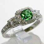FABULOUS EMERALD 925 STERLING SILVER  RING SIZE 5-10