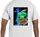 Real Fins Tuna Mahi Mahi Dolphin Beach Short Sleeve Fishing Fisherman T-Shirt