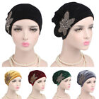 New Muslim Women Velvet Hand Beaded Turban Cap India  Chemo Wrap Head Beanie Hat