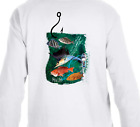 Dry Blend Fishing Snapper Marlin Grouper Reef Long Sleeve T-Shirt Athletic Fit