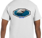 Short Sleeve Real Fins Shark Fishing Nautical Marine T-Shirt