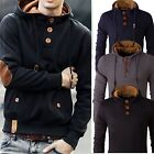 Stylish Men's Slim Warm Hooded Sweatshirt Hoodie Coat Jacket Outwear Sweater GW