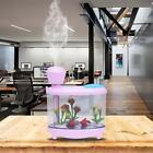 460ml Fish Tank LED Light Air Humidifier Mini USB Essential Oil Aroma Diffuser