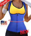 Waist Trainer Neoprene Body Hot Sweat Shaper Fat Burner Zipper Vest Bodysuit SFC