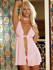 Sexy 3-pc sheer buckle chiffon babydoll thong Dreamgirl