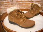 Earth Origins Cooper Brown Suede Water Resistant Ankle Boot NEW