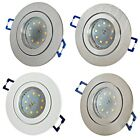 3x Step Dimmbar / 5W SMD LED Bad Einbauleuchte Marina 230Volt / IP44 / 400 Lumen